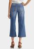 Petite Wide Leg Cropped Jeans alternate view