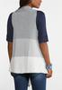 Plus Size Heathered Colorblock Vest alternate view