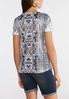 Plus Size Mixed Print Studded Tee alternate view