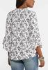 Plus Size Ruffled Country Floral Poet Top alternate view