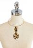Textured Leopard Pendant Necklace alternate view