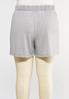 Plus Size Mesh Trim Shorts alternate view