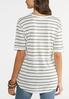 Plus Size Seamed Stripe Tunic alternate view