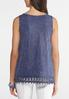 Plus Size Faded Navy Tank alternate view