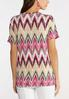 Plus Size Chevron Knotted Top alternate view