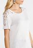 Plus Size Crochet Shoulder Tee alternate view