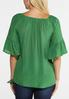 Plus Size Convertible Bell Sleeve Top alternate view