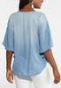 Plus Size Embroidered Chambray Poncho alternate view