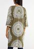 Plus Size Embroidered Olive Kimono alternate view