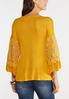 Plus Size Lace Sleeve Knit Top alternate view
