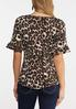 Plus Size Leopard Bell Sleeve Top alternate view