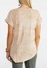 Plus Size Embellished Asymmetrical Top alternate view