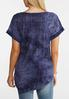 Plus Size Navy Embellished Asymmetrical Top alternate view