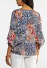 Floral Bell Sleeve Poet Top alternate view