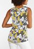 Plus Size Knotted Golden Floral Tank alternate view