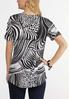 Plus Size Black And White Mixed Print Top alternate view