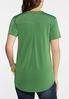 Plus Size Green Pullover Top alternate view