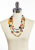 Colorful Layered Bead Necklace alternate view