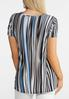 Abstract Stripe Tie Top alternate view