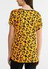 Plus Size Grommet Gold Leopard Top alternate view