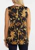 Plus Size Grommet And Chain Print Tank alternate view