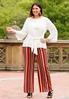 Plus Size Striped Woven Pants alternate view