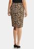 Leopard Pencil Skirt alternate view