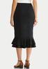 Plus Size Ruffled Ponte Skirt alternate view