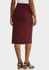 Plus Size Ponte Pull- On Pencil Skirt alternate view