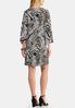 Plus Size Textured Animal Paisley Dress alternate view