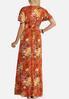 Plus Size Floral Flutter Maxi Dress alternate view