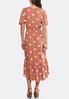 Plus Size Polka Dot Midi Dress alternate view