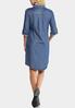 Plus Size Chambray Shirt Dress alternate view