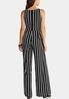 Petite Stripe Tie Waist Jumpsuit alternate view
