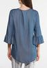 Plus Size Chambray Bell Sleeve Top alternate view