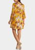 Plus Size Floral Hardware Swing Dress alternate view