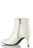 White Pointy Toe Ankle Boots alternate view