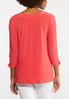 Plus Size Grommet Ruched Sleeve Top alternate view