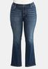 Plus Size Curvy Studded Pocket Bootcut Jeans alternate view