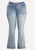 Plus Size Sparkling Embroidered Jeans alternate view