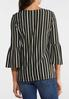 Plus Size Striped Bell Top alternate view