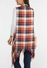 Plus Size Frayed Plaid Vest alternate view