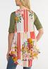 Plus Size Flounced Floral Vest alternate view