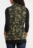 Plus Size Utility Camo Vest alternate view