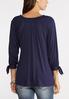 Plus Size Off The Shoulder Tie Sleeve Top alternate view