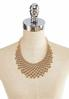 Gold Beaded Bib Necklace alternate view