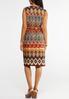 Plus Size Zip Front Aztec Shirt Dress alternate view