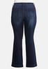 Plus Size Dark Bootcut Jeans alternate view