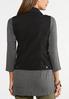 Plus Size Black Denim Vest alternate view