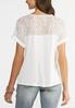 Plus Size Knotted Lace Back Top alternate view